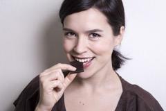 Girl Eating Choclate