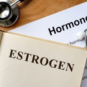 Estrogen and hormones written on paper